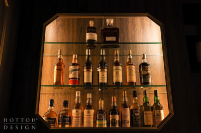 Display cabinet of special collection of whisky