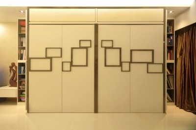 Yeo's Residence - Wall Feature-cum-Storage compartments